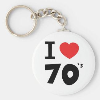 I love the seventies basic round button key ring