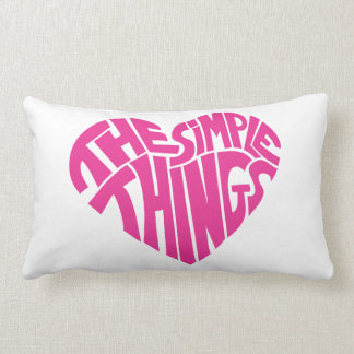I love the simple things throw pillows
