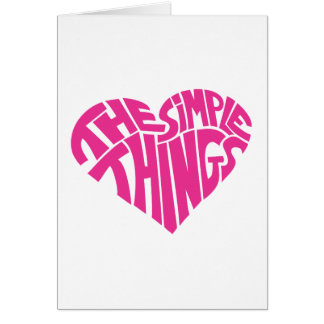 I love the simple things greeting card