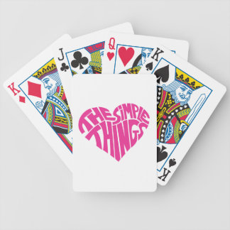 I love the simple things playing cards