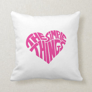 I love the simple things throw pillow
