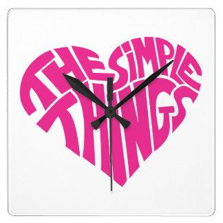 I love the simple things wall clocks