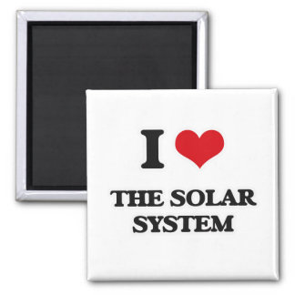 I Love The Solar System Magnet