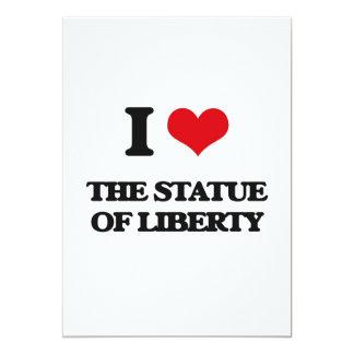 "I love The Statue Of Liberty 5"" X 7"" Invitation Card"