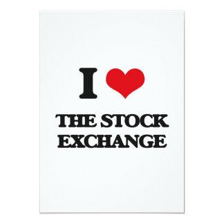 "I love The Stock Exchange 5"" X 7"" Invitation Card"