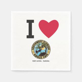 I Love the SWFL Eagle Cam Napkins Paper Napkins