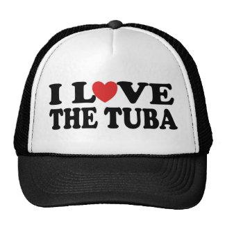 I Love The Tuba Cap Trucker Hats