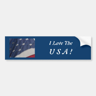 I Love The, U S A ! Car Bumper Sticker