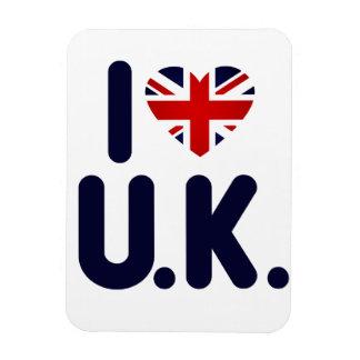 I love the UK Rectangular Photo Magnet