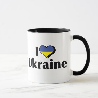 I Love The Ukraine Flag Mug