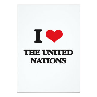 "I love The United Nations 5"" X 7"" Invitation Card"