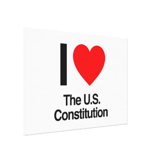 i love the us constitution stretched canvas prints