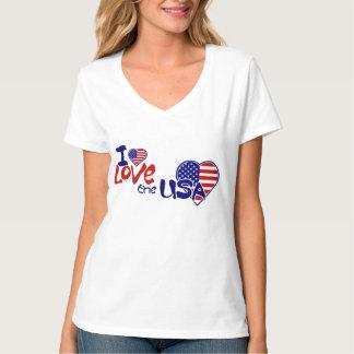 I love the USA American Heart Ladies Eco Blend T-Shirt
