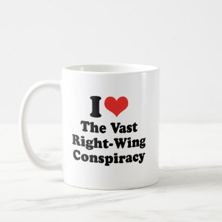 I LOVE THE VAST RIGHT WING CONSPIRACY - .png Basic White Mug
