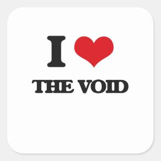 I love The Void Square Sticker