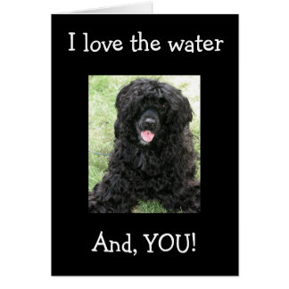 """I LOVE THE WATER AND YOU"" THANK YOU CARD"
