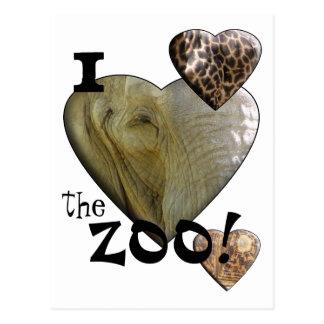 I Love the Zoo: Elephant Heart Postcard