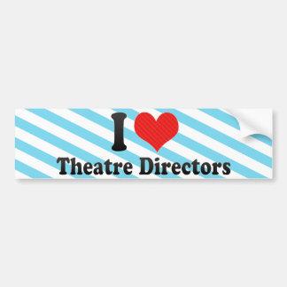 I Love Theatre Directors Bumper Sticker