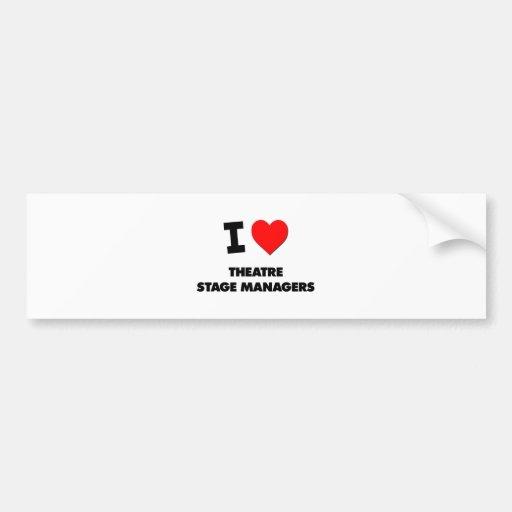 I Love Theatre Stage Managers Bumper Sticker