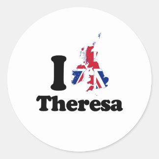 I Love Theresa - GBR - -  Round Sticker