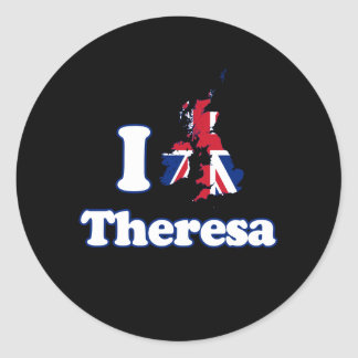 I Love Theresa - GBR -- -  Round Sticker