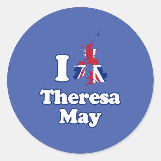 I Love Theresa May - GBR -- Round Sticker