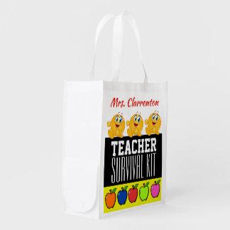 I LOVE THESE BAGS! Teacher Survival Kit Reusable Grocery Bag