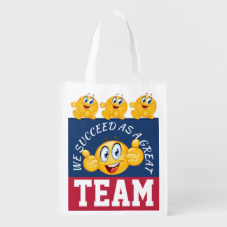 I LOVE THESE BAGS! Teamwork - See Back Reusable Grocery Bag