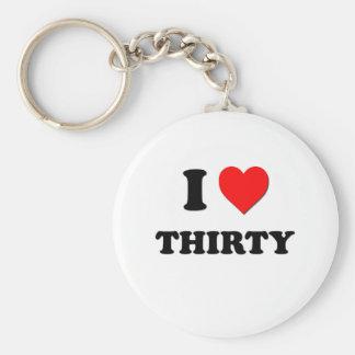 I love Thirty Key Chain