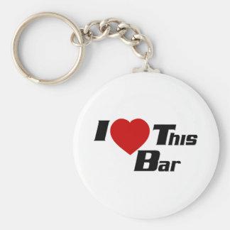 I Love This Bar Basic Round Button Key Ring