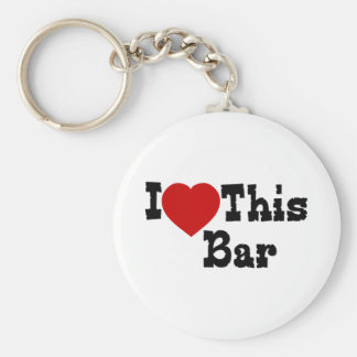I Love This Bar Basic Round Button Key Ring