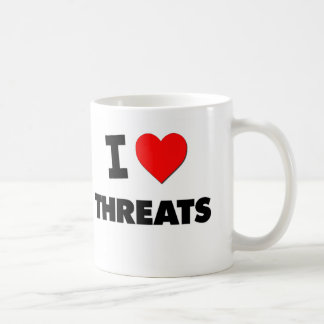 I love Threats Mugs