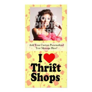 I Love Thrift Shops Card