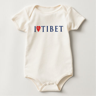 I Love Tibet Organic 3 Baby Bodysuit