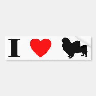 I Love Tibetan Spaniels Bumper Sticker