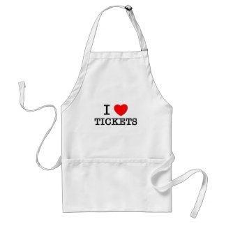 I Love Tickets Adult Apron