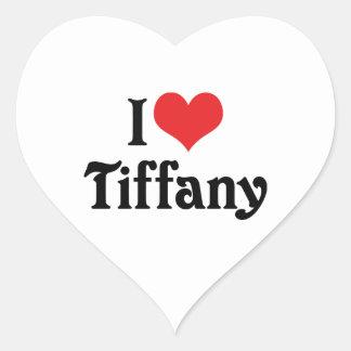 I Love Tiffany Heart Sticker