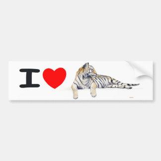 I love Tigers Bumper Sticker