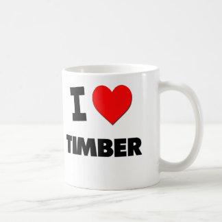 I love Timber Basic White Mug