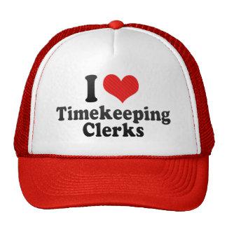 I Love Timekeeping Clerks Mesh Hats