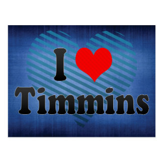I Love Timmins, Canada. I Love Timmins, Canada Postcard