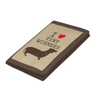I Love Tiny Wieners Dachshund Funny Dog Wallet