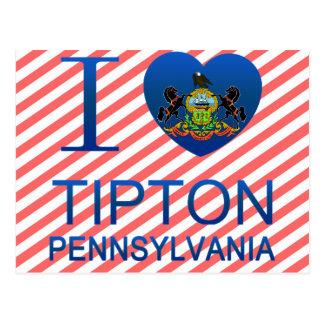 I Love Tipton, PA Postcard