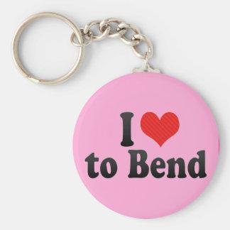 I Love to Bend Keychain
