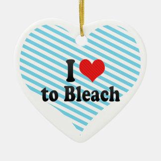I Love to Bleach Christmas Tree Ornament