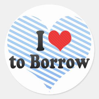 I Love to Borrow Stickers