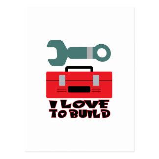 I Love To Build Postcard
