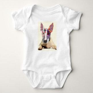 I love to bullterrier baby bodysuit