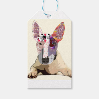 I love to bullterrier gift tags