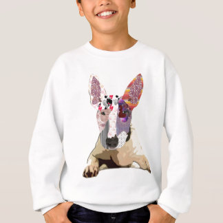 I love to bullterrier sweatshirt